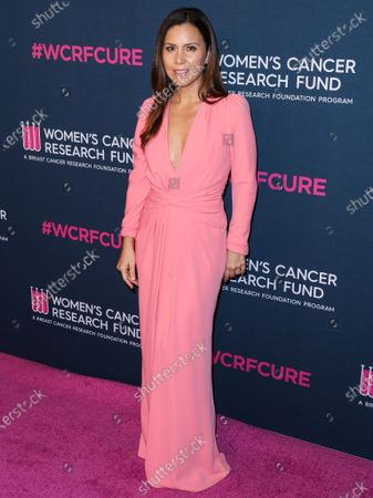 Fashion designer Monique Lhuillier arrives at The Women's Cancer Research Fund's An Unforgettable Evening Benefit Gala 2020 held at the Beverly Wilshire, A Four Seasons Hotel on February 27, 2020 in Beverly Hills, Los Angeles, California, United States.