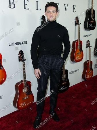 Casey Cott arrives at the Los Angeles Premiere Of Lionsgate's 'I Still Believe' held at ArcLight Cinemas Hollywood on March 7, 2020 in Hollywood, Los Angeles, California, United States.