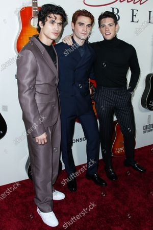 Charles Melton, KJ Apa and Casey Cott arrive at the Los Angeles Premiere Of Lionsgate's 'I Still Believe' held at ArcLight Cinemas Hollywood on March 7, 2020 in Hollywood, Los Angeles, California, United States.