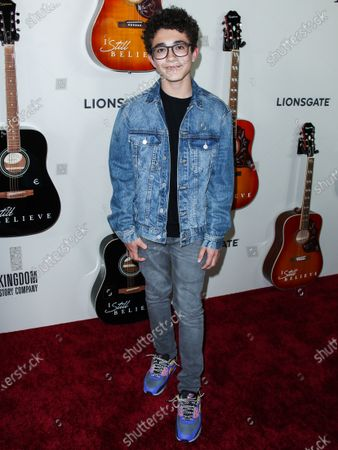 Nicolas Bechtel arrives at the Los Angeles Premiere Of Lionsgate's 'I Still Believe' held at ArcLight Cinemas Hollywood on March 7, 2020 in Hollywood, Los Angeles, California, United States.