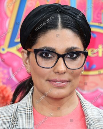 Stock Image of Rachel Roy arrives at the Los Angeles Premiere Of Disney Junior's 'Mira, Royal Detective' held at the Walt Disney Studios Main Theater on March 7, 2020 in Burbank, Los Angeles, California, United States.