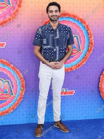 Karan Soni arrives at the Los Angeles Premiere Of Disney Junior's 'Mira, Royal Detective' held at the Walt Disney Studios Main Theater on March 7, 2020 in Burbank, Los Angeles, California, United States.