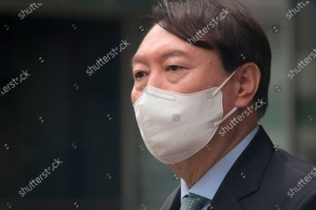 Yoon Seok-Youl : South Korean former Prosecutor General Yoon Seok-Youl, who has announced his intention to run in next year's presidential election as an opposition candidate, speaks at a press conference during his visit to Seoul National University in Seoul, South Korea. South Korean President Moon Jae-In selected Yoon in July 2019 to lead the national prosecution service but Yoon later clashed with president Moon government's justice ministers over a prosecution reform drive which was one of Moon's major presidential election pledges. Yoon stepped down as prosecutor general in early March 2021. Yoon is one of leading candidates for the next presidential election of South Korea.