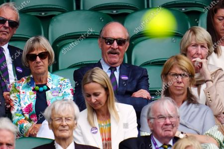 Stock Picture of John Newcombe in the crowd on Centre Court