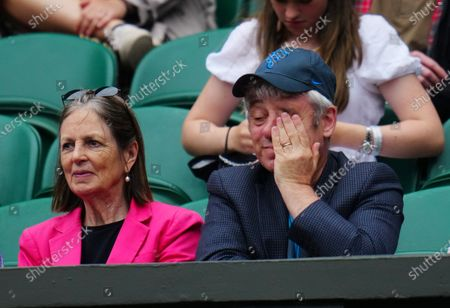 Stock Picture of John Bercow watching the action on Centre Court