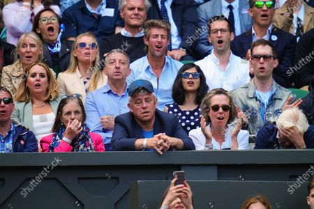 John Bercow watching the action on Centre Court