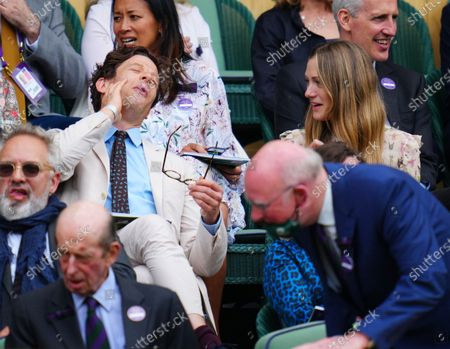 Stock Picture of James Norton and Hannah Bagshawe in the Royal Box on Centre Court