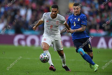 "Koke Jorge Resurreccion Merodio (Spain)Marco Verratti (Italy)                           during the Uefa  ""European Championship 2020 Semifinals  match between Italy  5-3 Spain  at Wembley Stadium in London, England."