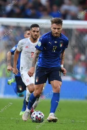 "Ciro Immobile (Italy)Koke Jorge Resurreccion Merodio (Spain)                     during the Uefa  ""European Championship 2020 Semifinals  match between Italy  5-3 Spain  at Wembley Stadium in London, England."