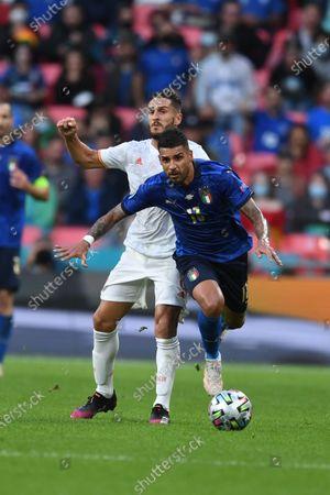 "Emerson Palmieri (Italy)Koke Jorge Resurreccion Merodio (Spain)                       during the Uefa  ""European Championship 2020 Semifinals  match between Italy  5-3 Spain  at Wembley Stadium in London, England."