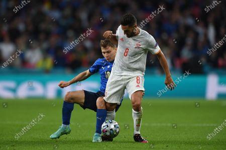 "Nicolo Barella (Italy)Koke Jorge Resurreccion Merodio (Spain)                        during the Uefa  ""European Championship 2020 Semifinals  match between Italy  5-3 Spain  at Wembley Stadium in London, England."