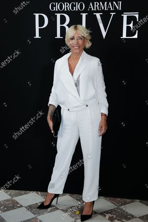 Malika Ayane attending the Giorgio Armani Private fashion show, Fall-Winter 2021/22 as part of the Paris Fashion Week, in Paris on July 06 2021.