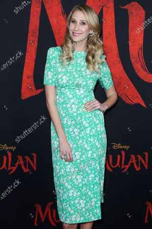 Maude Garrett arrives at the World Premiere Of Disney's 'Mulan' held at the El Capitan Theatre and Dolby Theatre on March 9, 2020 in Hollywood, Los Angeles, California, United States.