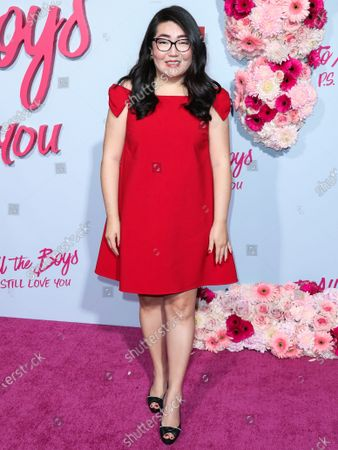 Writer Jenny Han arrives at the Los Angeles Premiere Of Netflix's 'To All The Boys: P.S. I Still Love You' held at the Egyptian Theatre on February 3, 2020 in Hollywood, Los Angeles, California, United States.
