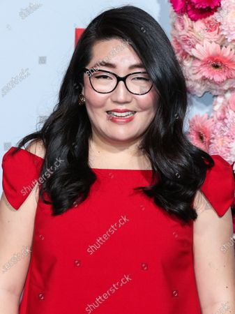 Stock Picture of Writer Jenny Han arrives at the Los Angeles Premiere Of Netflix's 'To All The Boys: P.S. I Still Love You' held at the Egyptian Theatre on February 3, 2020 in Hollywood, Los Angeles, California, United States.