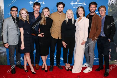 Kavan Smith, Andrea Brooks, Paul Greene, Pascale Hutton, Chris McNally, Michelle Vicary, Erin Krakow, Kevin McGarry and Jack Wagner arrive at Hallmark Channel's 'When Calls the Heart' Season 7 Premiere Celebration held at the Beverly Wilshire, A Four Seasons Hotel on February 11, 2020 in Beverly Hills, Los Angeles, California, United States.