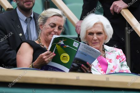 Stock Photo of Mary Berry in the Royal Box