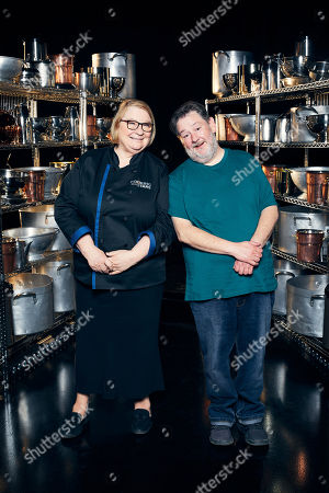 Stock Picture of Rosemary Shrager and Johnny Vegas.