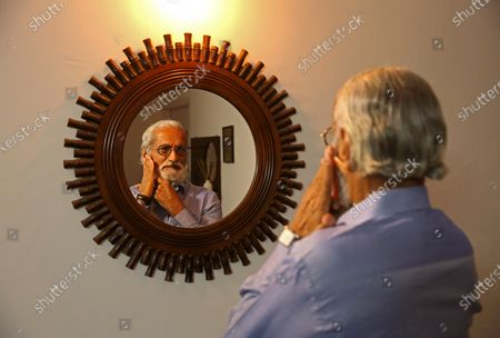 Editorial photo of Eldely people at home during lockdown in Bangalore, India - 03 Jul 2021