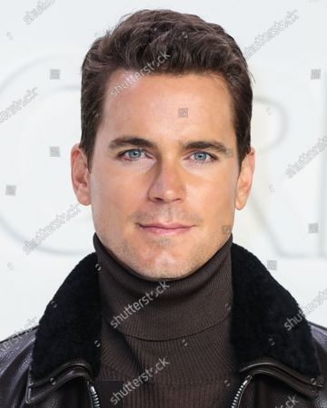 Matt Bomer arrives at the Tom Ford: Autumn/Winter 2020 Fashion Show held at Milk Studios on February 7, 2020 in Hollywood, Los Angeles, California, United States.