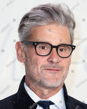 Simon Halls arrives at the Tom Ford: Autumn/Winter 2020 Fashion Show held at Milk Studios on February 7, 2020 in Hollywood, Los Angeles, California, United States.