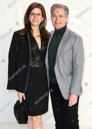Desiree Gruber and Kyle Maclachlan arrive at the Tom Ford: Autumn/Winter 2020 Fashion Show held at Milk Studios on February 7, 2020 in Hollywood, Los Angeles, California, United States.