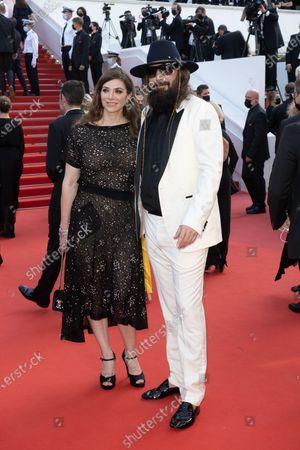 Stock Picture of Sebastien Tellier and Amandine de la Richardiere