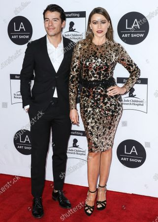 Stock Picture of Manolo Gonzalez-Ripoll Vergara and mother/actress Sofia Vergara arrive at the Los Angeles Art Show 2020 Opening Night Gala held at the Los Angeles Convention Center on February 5, 2020 in Los Angeles, California, United States.