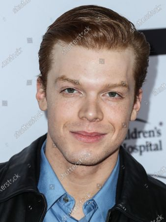 Actor Cameron Monaghan arrives at the Los Angeles Art Show 2020 Opening Night Gala held at the Los Angeles Convention Center on February 5, 2020 in Los Angeles, California, United States.