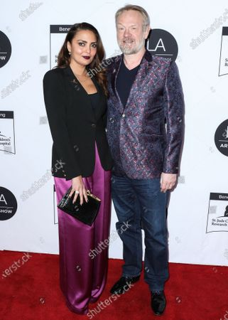 Allegra Riggio and Jared Harris arrive at the Los Angeles Art Show 2020 Opening Night Gala held at the Los Angeles Convention Center on February 5, 2020 in Los Angeles, California, United States.