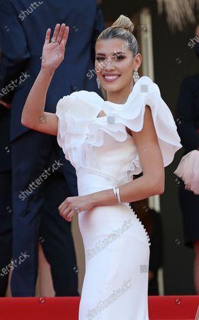 """Michelle Salas arrives on the red carpet before the screening of the film """"Tout s'est bien passe (All Went Well)"""" at the 74th annual Cannes International Film Festival in Cannes, France on Wednesday, July 7, 2021."""