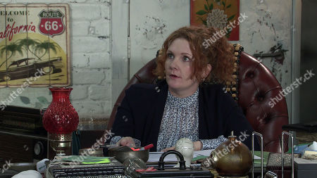 Coronation Street - Ep 10378 & Ep 10379 Friday 16th July 2021 Tyrone Dobbs calls at the furniture shop and confronts Fiz Stape, as played by Jennie McAlpine, over the article.