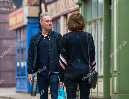 Coronation Street - Ep 10383 Wednesday 21st July 2021 - 2nd Ep Nick Tilsley, as played by Ben Price, and Leanne Battersby, as played by Jane Danson, conduct a frantic search for Sam while Sam remains on the balcony.