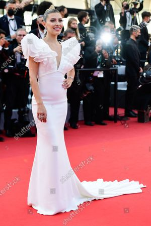 Michelle Salas arrives for the screening of 'Tout s'est bien passe' (Everything Went Fine) during the 74th annual Cannes Film Festival, in Cannes, France, 07 July 2021. The movie is presented in the Official Competition of the festival which runs from 06 to 17 July.