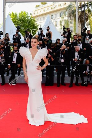Stock Picture of Michelle Salas arrives for the screening of 'Tout s'est bien passe' (Everything Went Fine) during the 74th annual Cannes Film Festival, in Cannes, France, 07 July 2021. The movie is presented in the Official Competition of the festival which runs from 06 to 17 July.