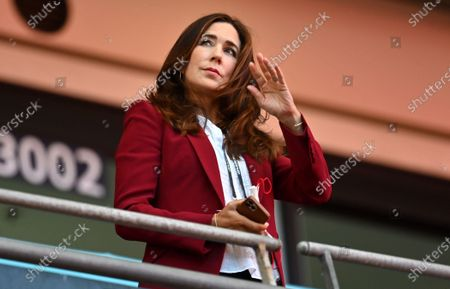 Crown Princess Mary of Denmark before the UEFA EURO 2020 semi final between England and Denmark in London, Britain, 07 July 2021.