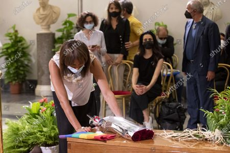 Vladimir Luxuria pays her respects as Raffaella Carra lies in state in the Protomoteca hall of Rome's Capitol, Italy, 07 July 2021. Raffaella Carra died on 05 July 2021 at the age of 78.