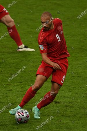 "Martin Braithwaite (Denmark)                     during the Uefa  ""European Championship 2020 Semifinals  match between England 2-1 Denmark at Wembley Stadium in London, England."