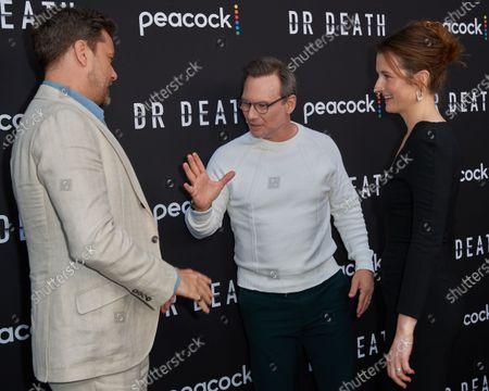 Joshua Jackson, Christian Slater and Grace Gummer