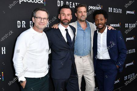 Christian Slater, Patrick Macmanus, Joshua Jackson and Hubert Point-Du Jour