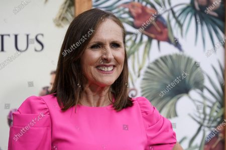 """Stock Photo of Molly Shannon, a cast member in """"The White Lotus,"""" poses at the premiere of the HBO limited series, at the Bel Air Bay Club in Los Angeles"""