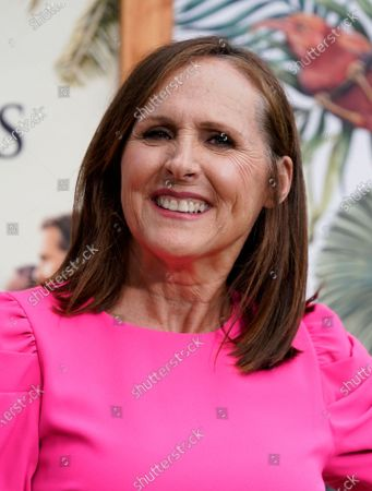 """Molly Shannon, a cast member in """"The White Lotus,"""" poses at the premiere of the HBO limited series, at the Bel Air Bay Club in Los Angeles"""