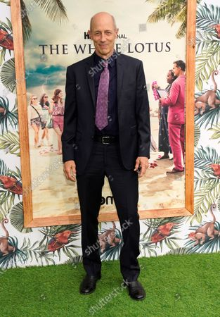 """Stock Image of Jon Gries, a cast member in """"The White Lotus,"""" poses at the premiere of the HBO limited series, at the Bel Air Bay Club in Los Angeles"""