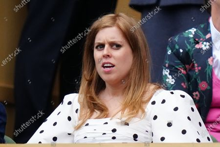 Princess Beatrice in the Royal Box on Centre Court