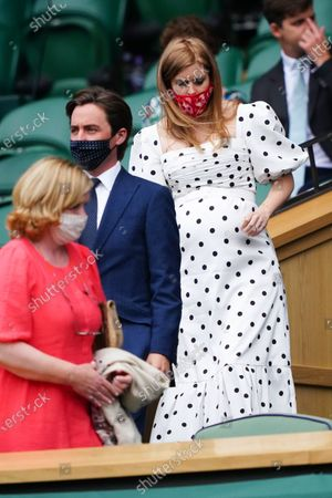 Stock Picture of Princess Beatrice in the Royal Box on Centre Court