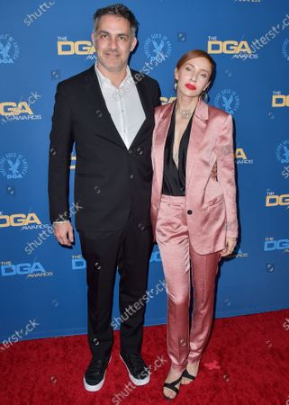 Miguel Sapochnik and Alexis Raben arrive at the 72nd Annual Directors Guild Of America Awards held at The Ritz-Carlton Hotel at L.A. Live on January 25, 2020 in Los Angeles, California, United States.