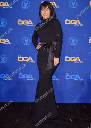 Constance Zimmer poses in the press room