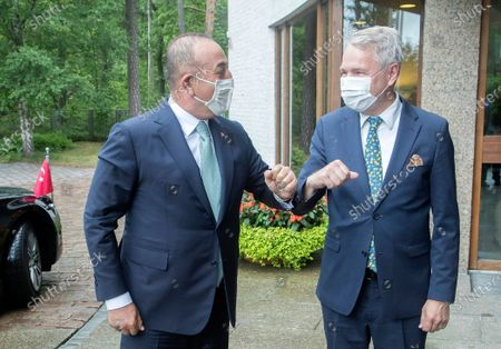 Editorial picture of Turkish Foreign Minister Cavusoglu in Helsinki, Finland - 08 Jul 2021