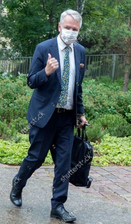 Editorial image of Turkish Foreign Minister Cavusoglu in Helsinki, Finland - 08 Jul 2021