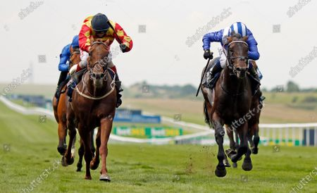 Stock Photo of SIR RON PRIESTLEY (left, Franny Norton) beats AL AASY (right) in The Princess Of Wales's Tattersalls Stakes Newmarket